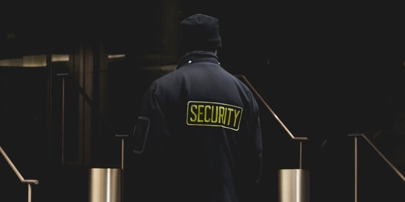 security-guard-in-black-jacket