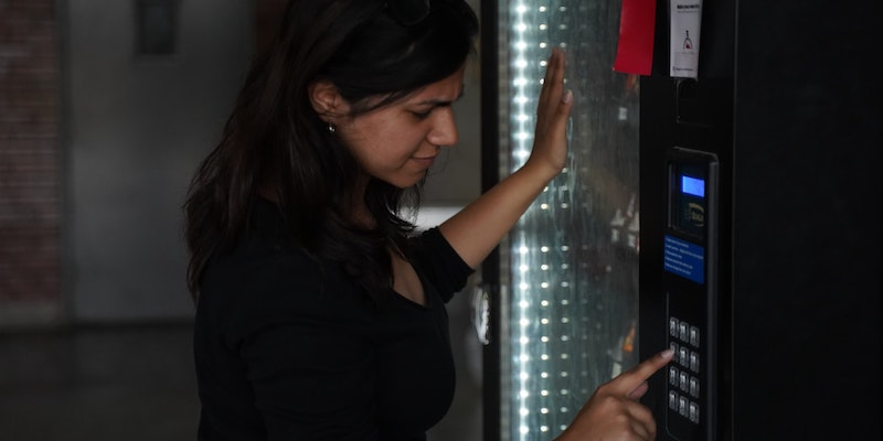 resident-using-vending-machine
